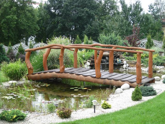Mostek Drewniany Ogrodowy Oczko Wodne Kładka Ogród